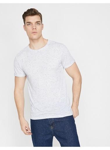 Koton Koton Bisiklet Yaka Beyaz  T-Shirt Beyaz